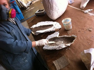 Whale flipper casting