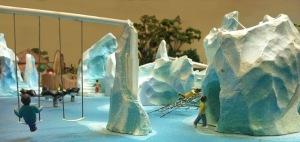 icebergs and swings