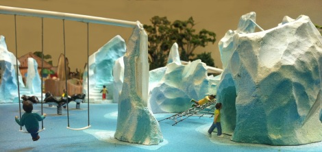 icebergs and swings